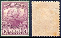 NEWFOUNDLAND 1919 Newfoundland Contingent. Caribou 8c. Bright Magenta, VF MVLH - 1908-1947