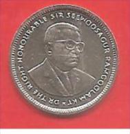 MAURITIUS - 2001 - COIN MONETA - 20 Centesimi RUPIA RUPEES - CONDIZIONI QFDC - Mauritius