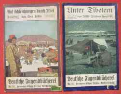 "(1045167) 3 Hefte ""Deutsche Jugendbuecherei"" Sven Hedin, Filchner, Albert Tafel. # Tibet # Asien # Expeditionen - Asia & Near-East"