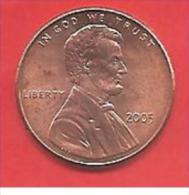 STATI UNITI - U.S.A. - 2005 - COIN MONETA - 1 Centesimo  - CONDIZIONI SPL - Emissioni Federali