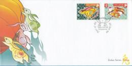 Singapore Chinese New Year Stamp FDC: Zodiac Series 1999 Rabbit SG122668 - Singapore (1959-...)