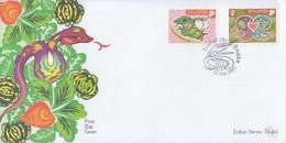 Singapore Chinese New Year Stamp FDC: Zodiac Series 2001 Snake SG122667 - Singapore (1959-...)