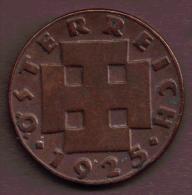 AUSTRIA 2 GROSCHEN 1925 - Autriche