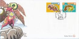 Singapore Chinese New Year Stamp FDC: Zodiac Series 2003 Ram SG122665 - Singapore (1959-...)