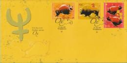 Singapore Chinese New Year Stamp FDC: Zodiac Series 2009 Ox SG122659 - Singapore (1959-...)
