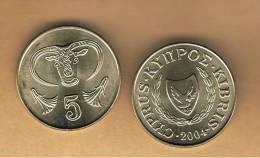 CHIPRE -   5 Cents 2004   KM55.3 - Chipre