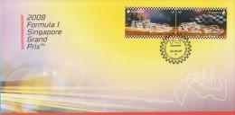 Singapore Stamp FDC: 2008 Formula 1 Singapore Grand Prix SG122822 - Singapore (1959-...)