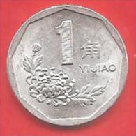 CINA - CHINA - 1996 - COIN MONETA - 1 JIAO  - CONDIZIONI SPL - Cina