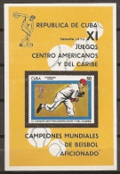 DEPORTES - CUBA 1970 - Yvert #H34 - MNH ** - Honkbal