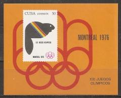 JUEGOS OLÍMPICOS - CUBA 1976 - Yvert #H46 - MNH ** - Verano 1976: Montréal
