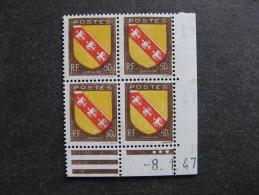 TB Bloc De 4 Coin Daté 1947 Du N° 757, Neuf  . - 1940-1949