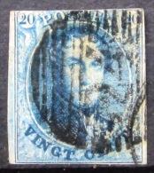 BELGIQUE               N°  4               OBLITERE - 1849-1850 Medallions (3/5)