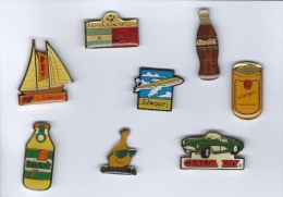 8 PINS  Coca Cola ,schweppes Et Autres - Boissons