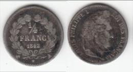 **** 1/4 FRANC 1842 A - QUART FRANC 1842 A LOUIS PHILIPPE - ARGENT **** EN ACHAT IMMEDIAT !!! - France