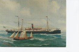 S/S  Gustaf Adolf.  Artist: John Henry Mohrmann 1906.  A-2770 - Handel