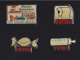 4 PINS  Série TOTAL Relais Salengro - Carburants