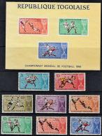 C0127 TOGO, 1966 Football World Cup, Complete Set & Miniature Sheet  MNH - Togo (1960-...)