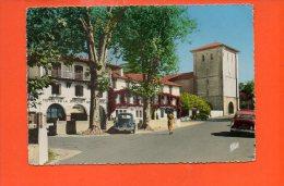 64 ASCAIN : L'église Et La Place N°1523 -Hôtel De La Rhune    ( écrite Et Voyagée) Année 1972 - Andere Gemeenten