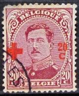 BELGIQUE         N°  155          OBLITERE     2° CHOIX - 1918 Croix-Rouge