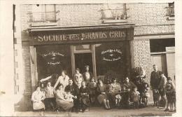 SOCIETE DES GRAND CRUS - FACADE DE MAGASIN - CARTE PHOTO A SITUER - Negozi