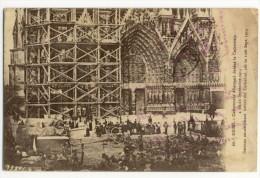 REIMS  - Campement Allemand Devant La Cathédrale- 4 Au 6 Septembre 1914. - Reims