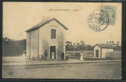 CPA 18 Jussy Le Chaudrier La Gare Ligne De Argent à La Guerche - Autres Communes
