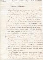 Lettre De L´Etat-major Du 5e Corps Pendant La Campagne D´Espagne 1823. Texte Très Intéressant - Documents Historiques