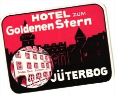 10 Hotel Labels , Etiketten  GERmany Duitsland Allemagne Garmisch Hannover Jutebor- Karlsruhe Dusseldorf Koblenz Hamm - Hotelaufkleber