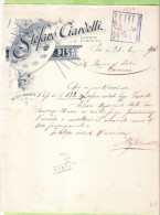 1901-FATTURA PUBBLICITARIA-PISA-STEFANO CIARDELLI- - Italia