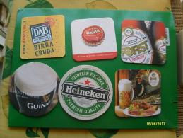 Birra Bier N.6 Sottobicchieri In Cartone DIFFERENTI - Altre Collezioni
