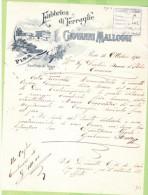1900-FATTURA PUBBLICITARIA-PISA-GIOVANNI MALLOGGI-FABBRICA DI TERRAGLIE - Italia