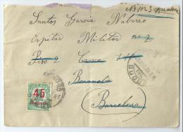 1938. CARTA COMPLETA DIRIGIDA DE HINOJOSA DEL DUQUE A BONANOVA (BARCELONA) - 1931-Hoy: 2ª República - ... Juan Carlos I