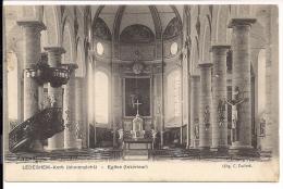 Originele Zichtkaart Ledegem Kerkbinnenzicht 1910 - Ledegem