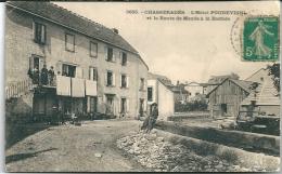 Cpa Chasseradès -Hôtel Poudevigne Et Route De Mende à La Bastide . - France