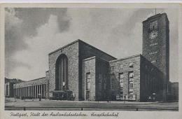 Stuttgart, Hauptbahnhof        (spoorwegen, Station, Chemin De Fer , Railway)  2 X Scan - Stuttgart
