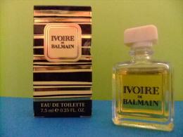 MINIATURE  EAU DE TOILETTE - IVOIRE DE BALMAIN - PIERRE BALMAIN - PARIS - 0.25 Fl Oz  7.5 Ml - ECHANTILLON DE COLLECTION - Miniaturas Mujer (en Caja)