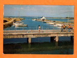 QUIMIAC EN MESQUER -44 Loire Atlantique - N°2849 Le Port De Kercabellec Pecheur à La Ligne Bateaux - Altri Comuni
