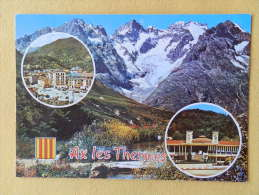 Dep 09 , Cpm AX Les THERMES , S.12 , Place Du Breilh , Le Casino , Multivues  , Recto/verso  (89) - Ax Les Thermes