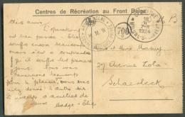 C.P. (Hôpital Militaire De Woluwe) - Rééducation Des Grands Blessés)  Obl. Sc OP-WOLUWE * WOLUWE -St-LAMBERT Du 18-II-19 - WW I