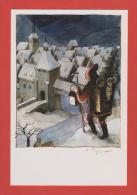 Dessin Original De Tomi Ungerer 1975 Stille Nacht,Heilige Nacht  Tirage Limité N°0562 - Francia