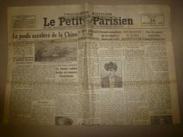 24 Décembre 1931  LE PETIT PARISIEN: De Haiphong à Hong-Kong ; Hongrie; Un Chaudronnier Meurtrier D´un Forain; - Zeitungen