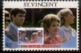 St VINCENT Mi 973 Maxi Card**_ROYAL WEDDING - St.Vincent (1979-...)