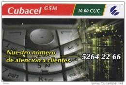 Cuba, Cubacel GSM, Controlnumber Down, 2 Scans . - Cuba