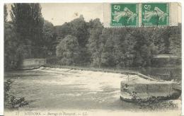 R : Aisne :  SOISSONS  :  Barrage  De  Vauxcrot - Soissons