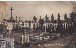 Carte Postale Photo Militaire Allemand WERVIK-WERVICQ (Belgique) Friedhof-Cimetière Allemand-VOIR 2 SCANS - - Wervik