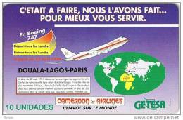 Equatorial Guinea, EQG-08, 10units, Cameroon Airlines, Boeing 747, 2 Scans. - Equatoriaal Guinea