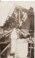 Carte Postale Photo Militaire Allemand WERVIK-WERVICQ (Belgique)  Maison En Ruine-VOIR 2 SCANS - - Wervik