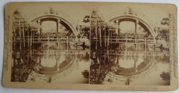 Underwood & Underwood 1896, Japon, Semi Circular Bridge In Quaint Old Japan - Stereoscopio