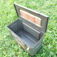 1 Caisse Vide De Munitions De 100 Cartouches De 12,7 Mm Pour Collection Militaria Ou Caisse Utilitaire, à Outils - Equipement