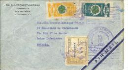 Lettre En-tête Cie Gle Transatlantique San Salvador Pour CGT Le Havre Par Avion 1936 Timbres Aériens 36,42,44 Voir 2scan - El Salvador